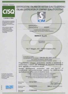 Certificado Berco